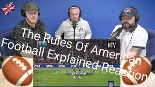 The Rules of American Football EXPLAINED REACTION OFFICE BLOKES REACT