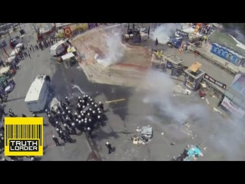 Police shoot down RC quadrocopter in Turkey - Truthloader