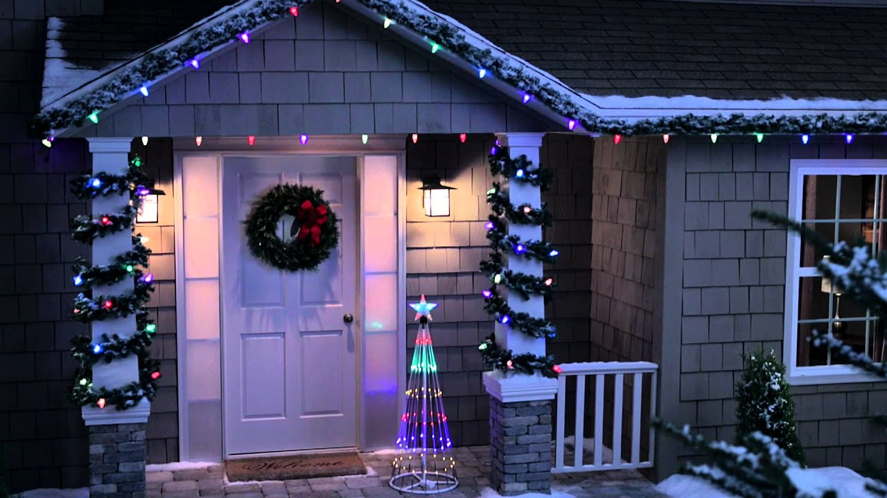 philips color changing c9 light set with 16 functions youtube - Philips C9 Led Christmas Lights