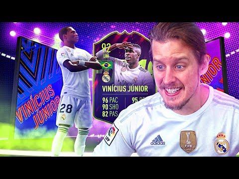 THE NEW NEYMAR?! 92 FUTURE STAR VINICIUS JUNIOR! FIFA 19 Ultimate Team