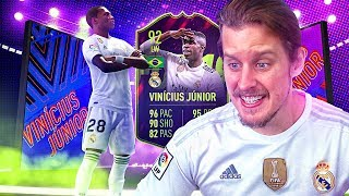 THE NEW NEYMAR?! 92 FUTURE STAR VINICIUS JUNIOR! FIFA 19 Ultimate Team