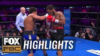 Money Powell knocks down Javier Frazier in the 3rd round | HIGHLIGHTS | PBC ON FOX