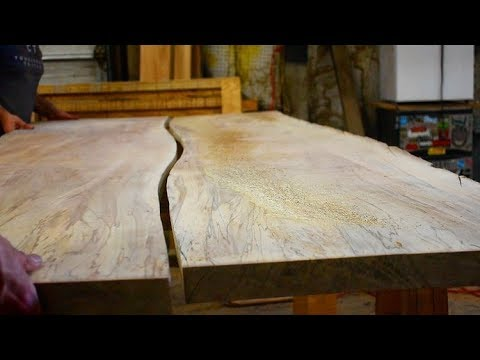 How to Make a Live Edge Table with Hairpin Legs || Modern Contemporary Rustic