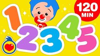 Aprende Los Números  Los Mejores Juegos Educativos Y Canciones Infantiles (120 Min) | Plim Plim