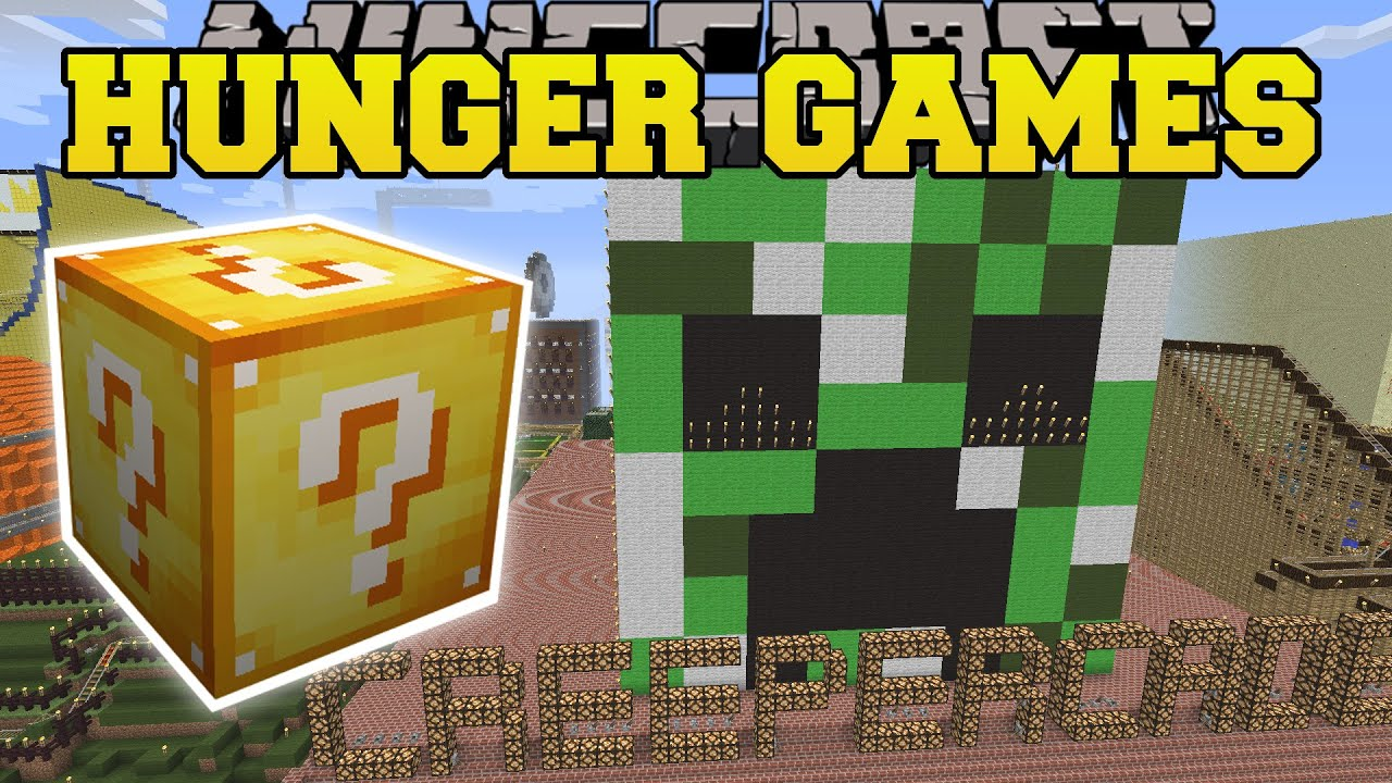 Notch land hunger games lucky block mod modded mini game youtube