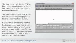 EDI Van -- Web Document Manager Tool