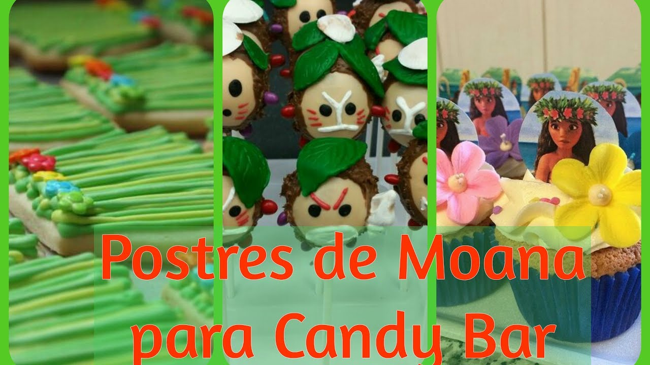 Postres de moana para candy bar mesa de dulces fiesta de - Mesa dulce infantil ...