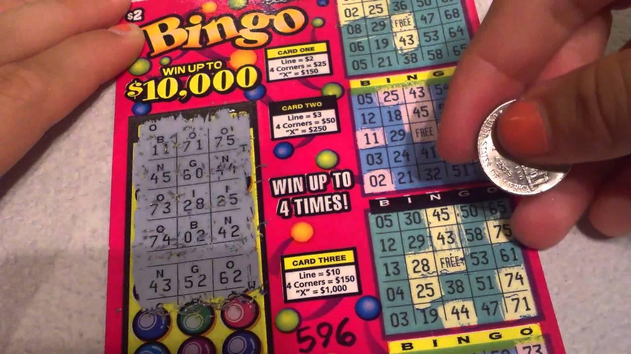Arizona Scratch off bingo ticket