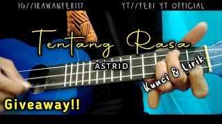 [GIVEAWAY] Astrid - Tentang Rasa (Kunci&Lirik) Cover Kentrung Ukulele by Feri Yt Official