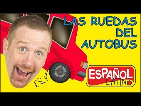 Las Ruedas del Autobus | Canciones Infantiles para Niños | Aprender con Steve y Maggie Español