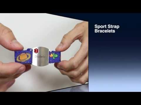 Kids Sport Strap Medical ID Bracelet Collection from StickyJ