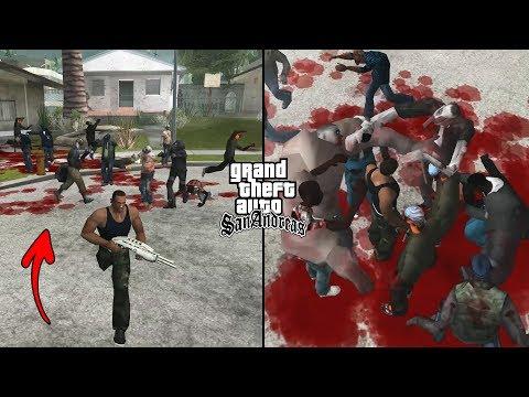 Secret Zombie Cheat In GTA San Andreas! (Zombie Apocalypse Waves)