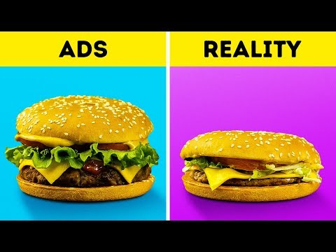 FAST FOOD VS REALITY  ||  DIY EXPERIMENT