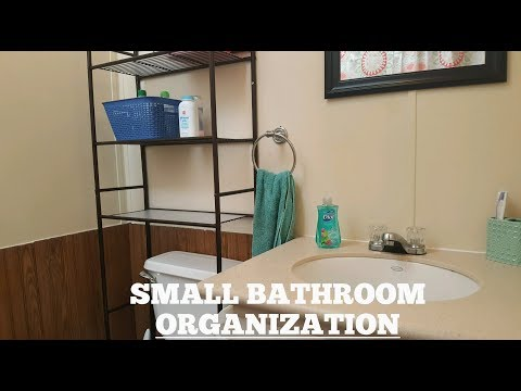 SMALL BATHROOM ORGANIZATION | VDOMUS BATH MAT REVIEW
