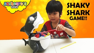 Daddy vs. Toddler SHAKY SHARK - Tabletop games toys for kids game night with daddy playtime skyheart