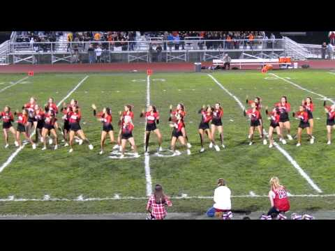 Guilderland High School football & cheer Senior night halftime show with Varsity Cheer 2012.MOV