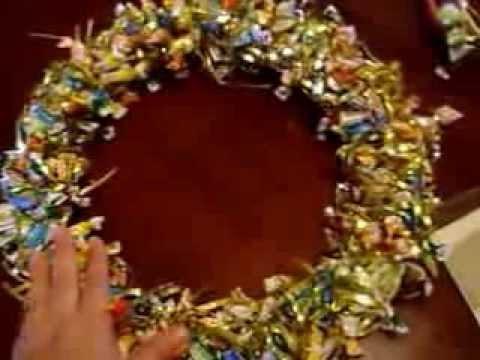 Corona de dulces navide a con aros de bordar youtube - Como se hacen crepes dulces ...