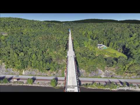 Walkway Over the Hudson (Poughkeepsie - Highland, NY) - hike flyover