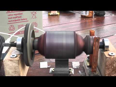 Open DC motor -- school project