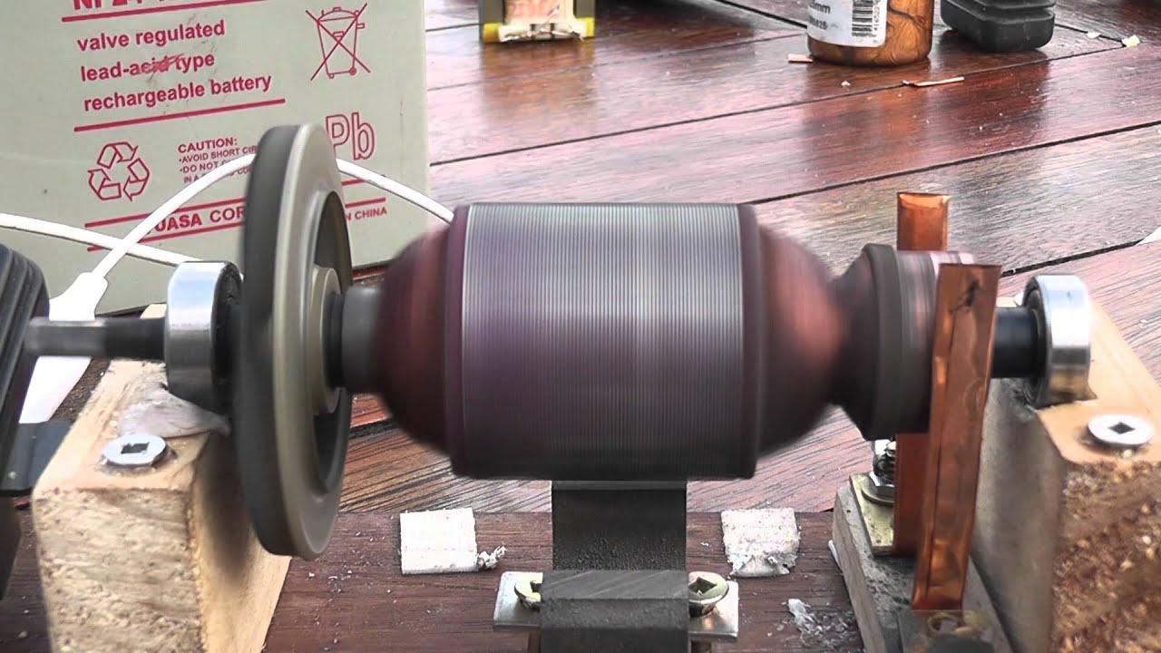 Open DC motor -- school project - YouTube