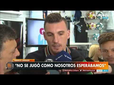 """Armani No Piensa En El Superclásico: """"Hay Que Buscar La Clasificación En Paraguay"""""""