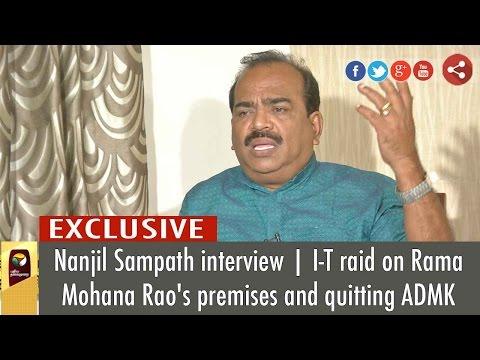 Exclusive: Interview with Nanjil Sampath on Quitting AIADMK | Puthiya Thalaimurai TV