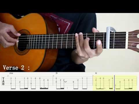 Cinta Luar Biasa - Andmes Kamaleng - Fingerstyle Guitar Cover - Tutorial TAB.