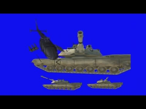 Chroma key blue-war,explosion,blast,rat,plane,avion,helicpoter,tenk,tank,