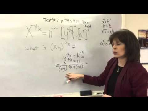 Applying exponent rules to test question: CB