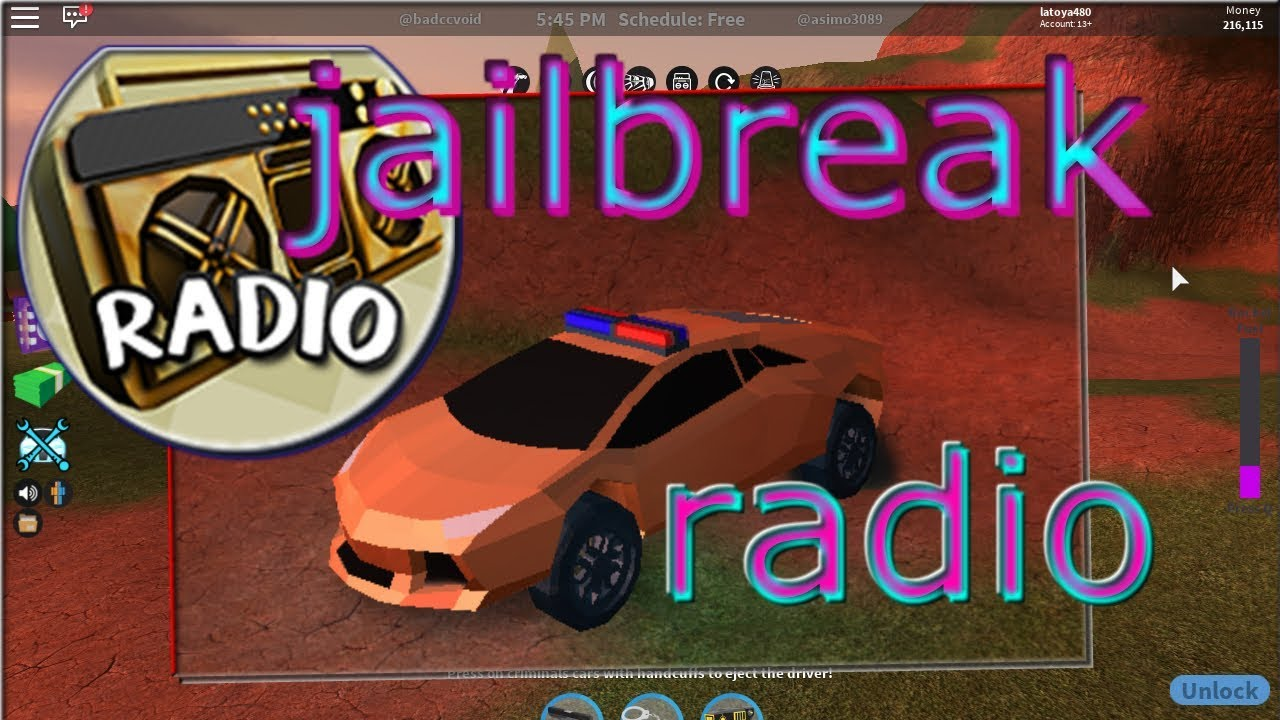 how to use radio in roblox jailbreak