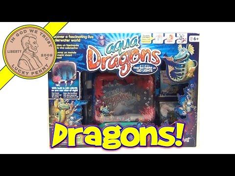 Aqua Dragons Deep Sea Habitat w/LED Lights, World Alive - Watch Live Aquatic Sea Creatures Grow!