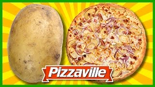 Spicy Potato & Bacon Pizza from Pizzaville Review #pizzaville