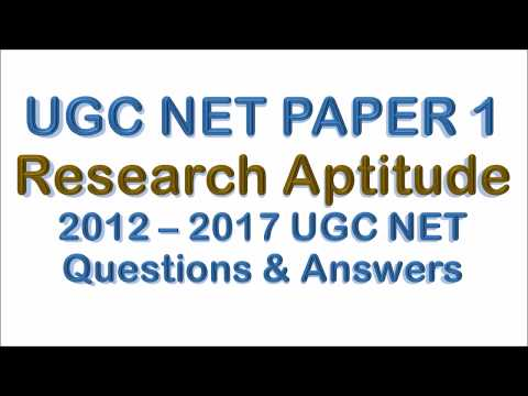 Research Aptitude UGC NET paper 1 Questions Collection with Official Answers