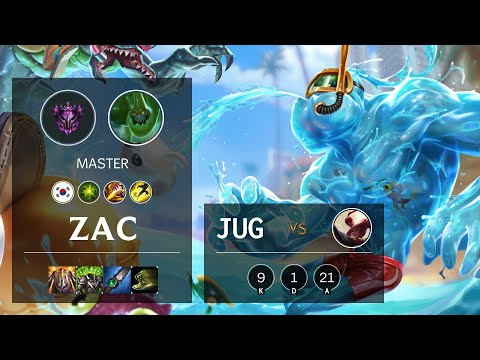 Zac Jungle vs Lee Sin - KR Master Patch 10.15