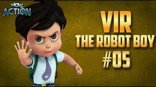Vir: The Robot Boy | Hindi Cartoon Compilation For Kids | Compilation 05 | WowKidz Action