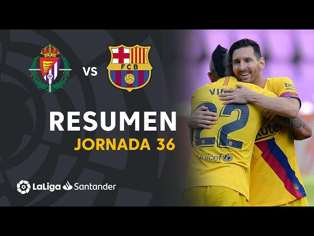 Resumen de Real Valladolid vs FC Barcelona (0-1) - LaLiga Santander