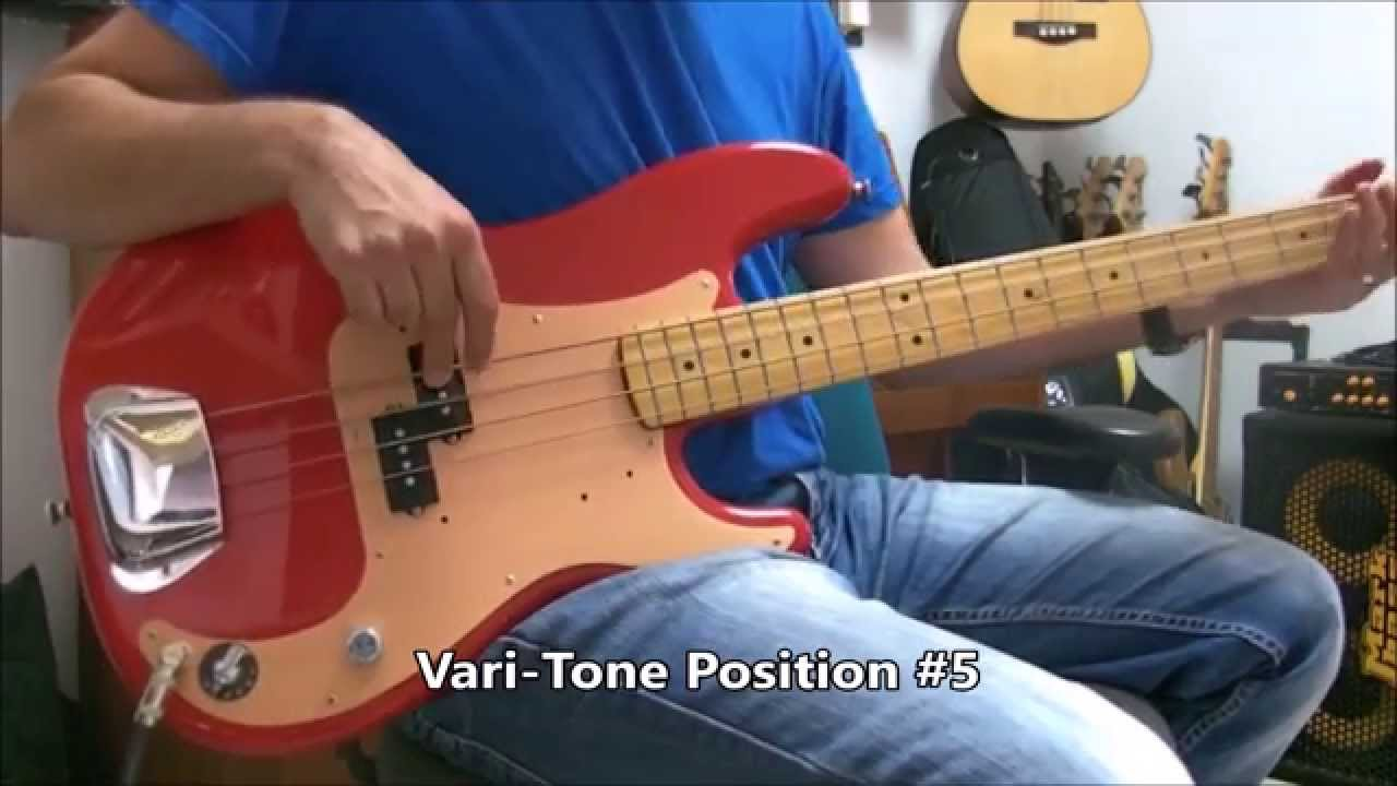 stellartone vari tonestyler varitone custom precision bass guitar demo [ 1280 x 720 Pixel ]