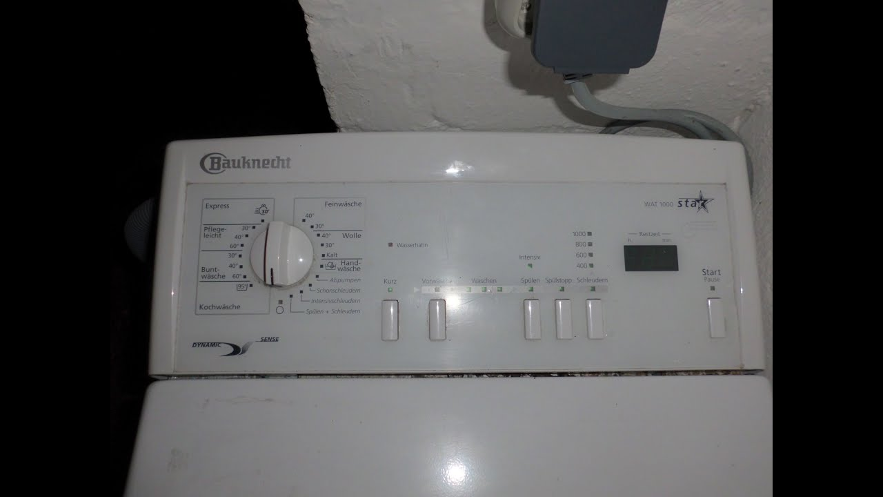 Bauknecht wat star dynamic sense fuzzylogic waschmaschine