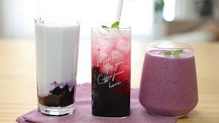 [카페음료] 냉동 블루베리 3가지 음료 레시피 / 에이…