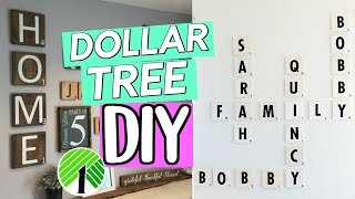 DOLLAR TREE DIY: FAMILY SCRABBLE WALL ART! RUSTIC DOLLAR STOREGALLERY WALL| SENSATIONALFINDS