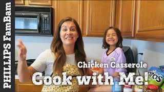 COOK WITH ME | CHICKEN TACO CASSEROLE RECIPE | QUICK & EASY MEAL |PHILLIPS FamBam Cook with Me