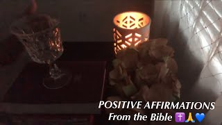 POSITIVE AFFIRMATIONS from the Bible (Christian ASMR with tapping and scratching)