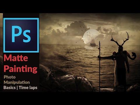 Adobe Photoshop Tutorial – Basic Matte Painting  (Photo Manipulation) Movie 300 Style