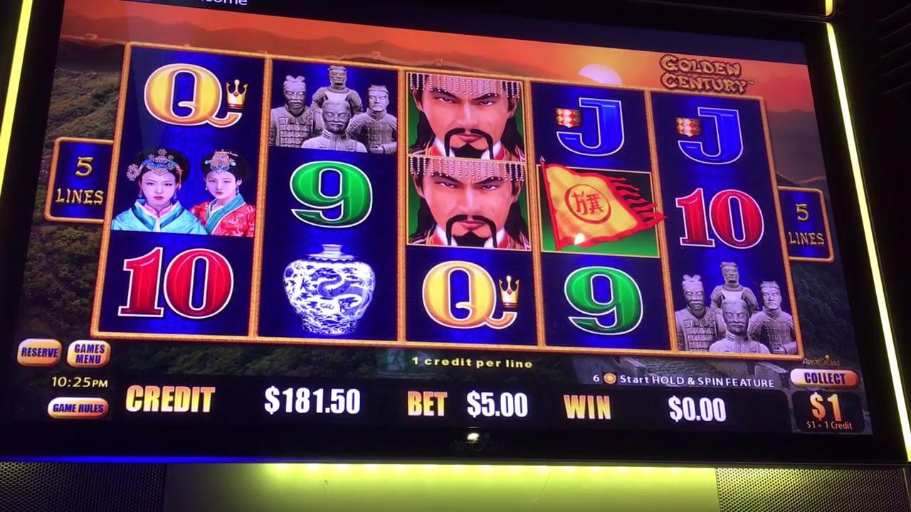 Golden Century Dragon Link - $1.00 denomination $5.00 bets. Not bad!