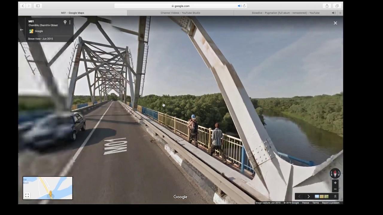 Chernihiv, Chernihiv Ob. to Kozelets, Ukraine Google avenue view tra