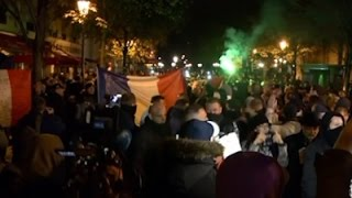 Raw: French Police Hold Protest in Paris