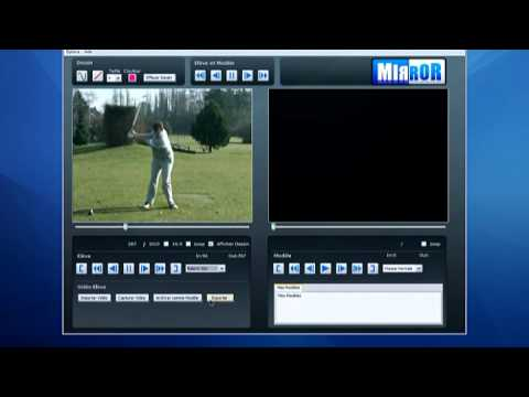 The swing analysis software: Mirror