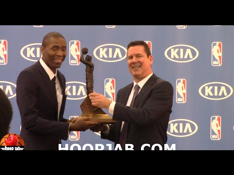 Jamal Crawford wins his 3rd KIA Sixth Man of The Year award. HoopJab