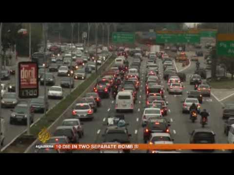Sao Paulo's traffic chaos - 06 Aug 09