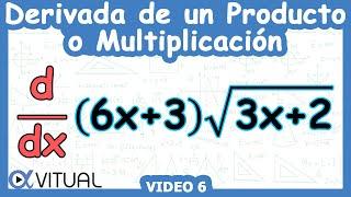 Derivada regla del producto o multiplicación | Cálculo diferencial - Vitual
